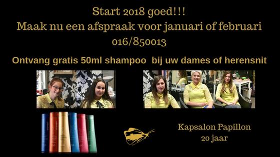 Start 2018 Goed Met Een Gratis Shampoo